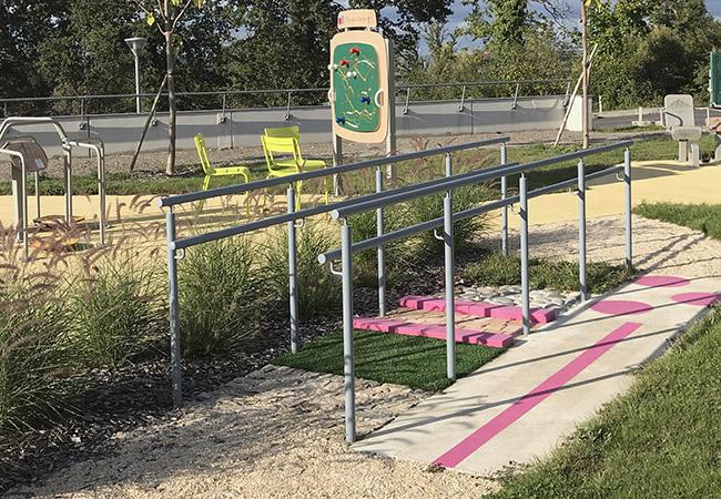 Parcours pour les activités physiques adaptées