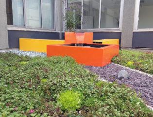 Le patio du service radiologie du CHU de Limoges, un espace pour se détendre avant ou après un examen