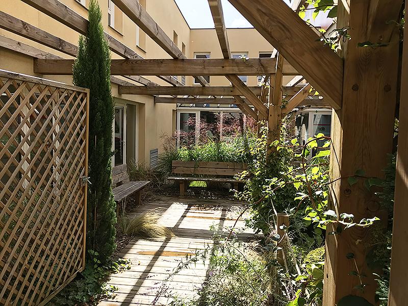 vue des espaces du patio