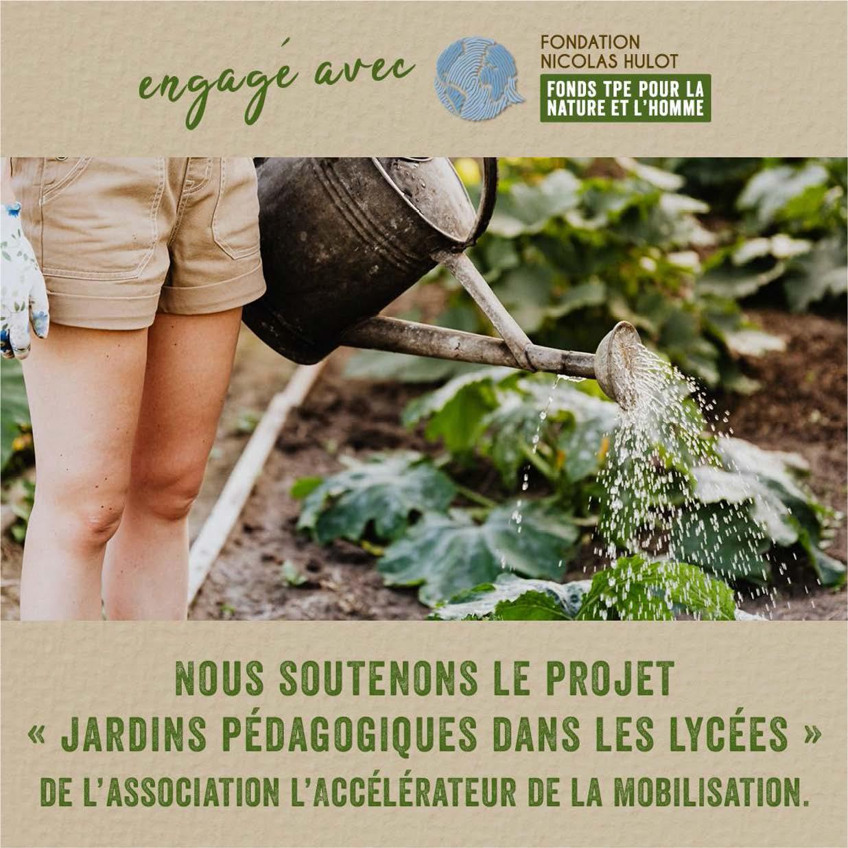 Expressions Jardin s'engage avec la fondation Nicolas Hulot